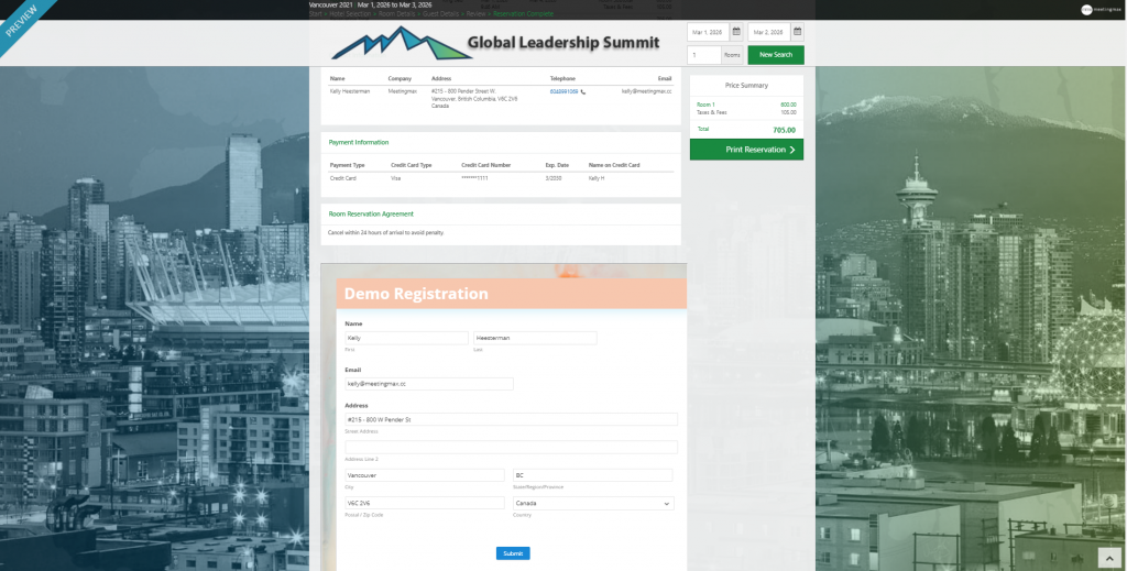 Example of embed registration